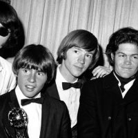 """It's easy to dismiss The Monkees as a """"made for TV"""" rock band. But they are so much more. The group members are pictured here at the 1967 Emmy Awards, from left to right, Mike Nesmith, Davy Jones, Peter Tork and Micky Dolenz. (AP)"""