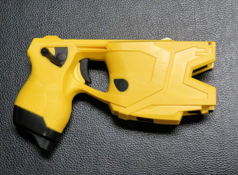 A Taser used by the Tempe Police Department. (Courtesy of Casey Kuhn)