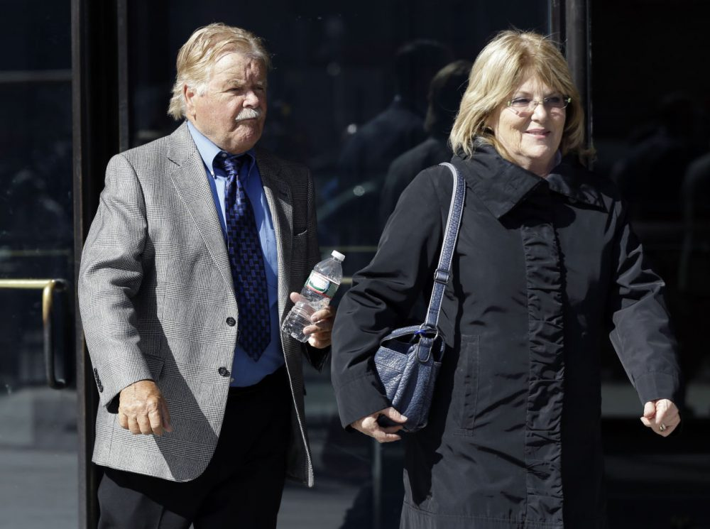 Robert Fitzpatrick, 75, of Charlestown, R.I., leaves federal court in Boston Thursday. (Elise Amendola/AP)