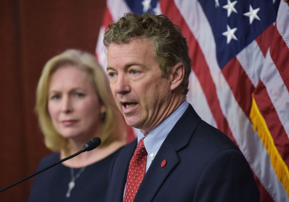 Senator Rand Paul, R-KY, fully declared his campaign for the Republican presidential nomination today. Here speaks during a press conference on March 10, 2014 in Washington, DC. (Mandel Ngan/AFP/Getty Images)
