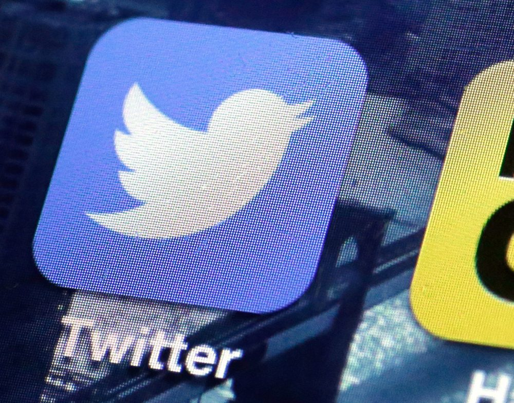 This Friday, Oct. 18, 2013, file photo shows a Twitter app on an iPhone screen, in New York. Twitter bought the company behind live video-streaming app Periscope earlier this year for a reported $100 million. (AP)