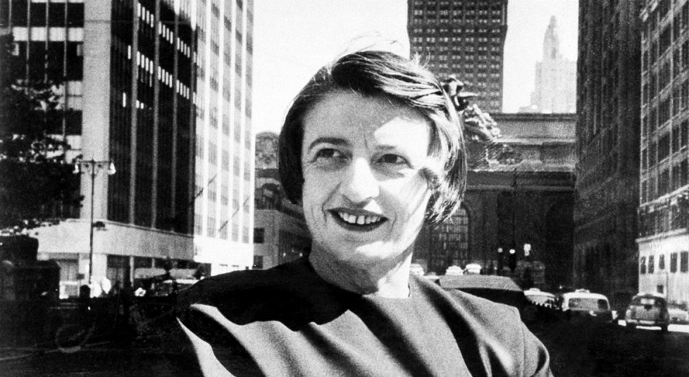 "Paul Fallon: ""What light could the originator of Objectivism possibly shed on volunteering?"" Pictured: Ayn Rand, the Russian-born American novelist, is shown in Manhattan with the Grand Central Terminal building in background in 1962. (AP)"