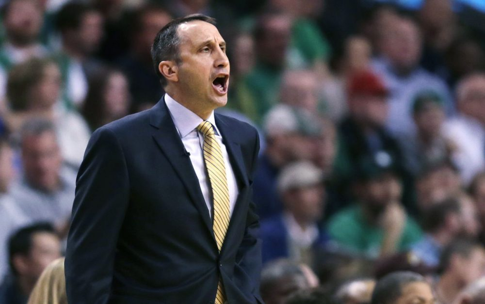 David Blatt had to travel far from his hometown of Framingham to climb the coaching ranks, but now the first-year Cleveland Cavaliers head coach is back in Boston leading his team past the Celtics. (Charles Krupa/AP)