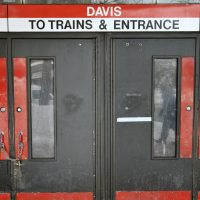 "Rick Dimino: ""A failing T means a failing economy."" Pictured: Locked doors confront would-be passengers at the entrance to the MBTA subway station at Davis Square in Somerville, Mass., Tuesday, Feb. 10, 2015. The third major winter storm in two weeks left the Boston area with another two feet of snow and forced the MBTA to suspend all rail service for the day. (Josh Reynolds/AP)"