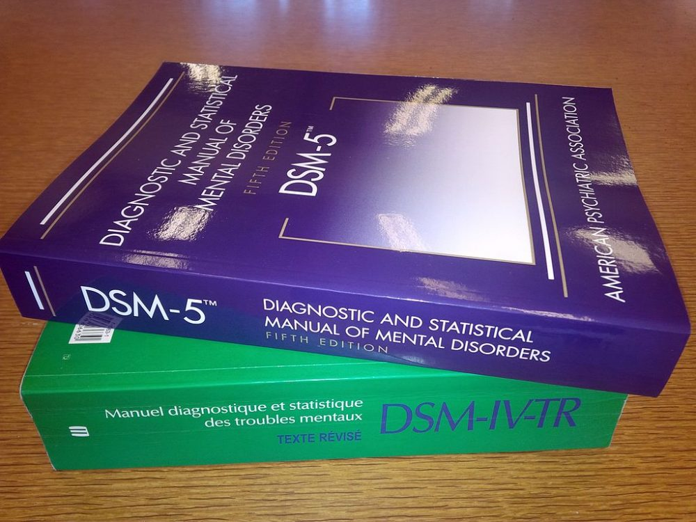 """The DSM-5, widely known as the """"bible of psychiatry,"""" is close to 1,000 pages and not exactly user-friendly. (Wikimedia Commons)"""