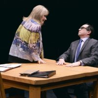 "Karen MacDonald and Jeremiah Kissel in ""Ulysses on Bottles."" (Paul Marotta)"