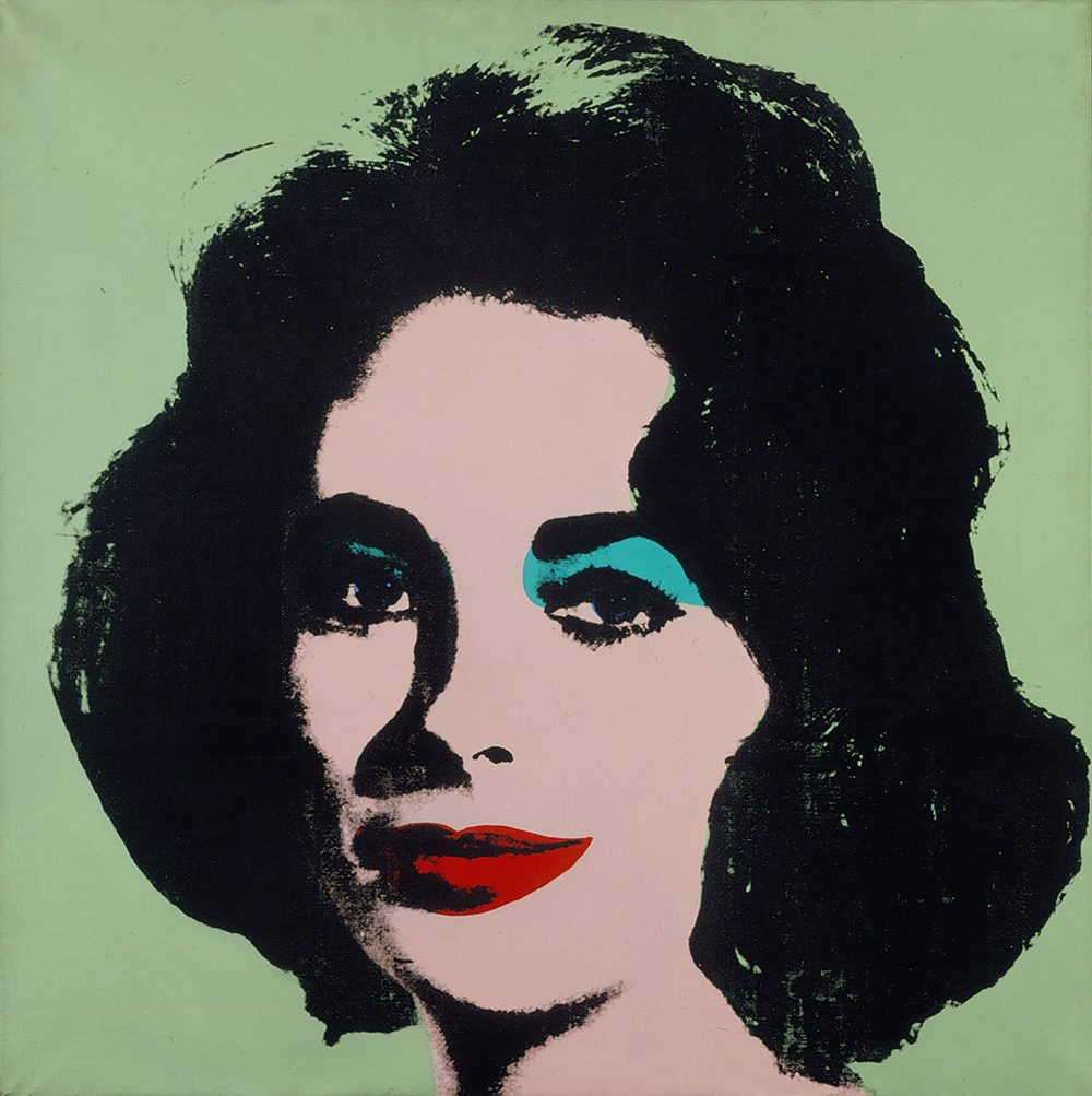 Andy Warhol. Liz #3 [Early Colored Liz], 1963. The Stefan T. Edlis Collection, Partial and Promised Gift to the Art Institute of Chicago. (Courtesy of the Art Institute of Chicago)