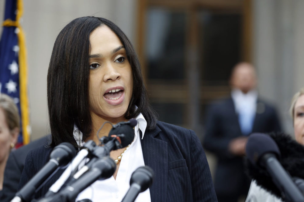 On May 1, 2015, Marilyn Mosby, Baltimore state's attorney, announces criminal charges against six officers suspended after Freddie Gray suffered a fatal spinal injury in police custody. (Alex Brandon/AP)