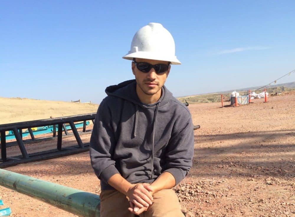 Neil LaRubbio on the job site. (Neil LaRubbio/Inside Energy)