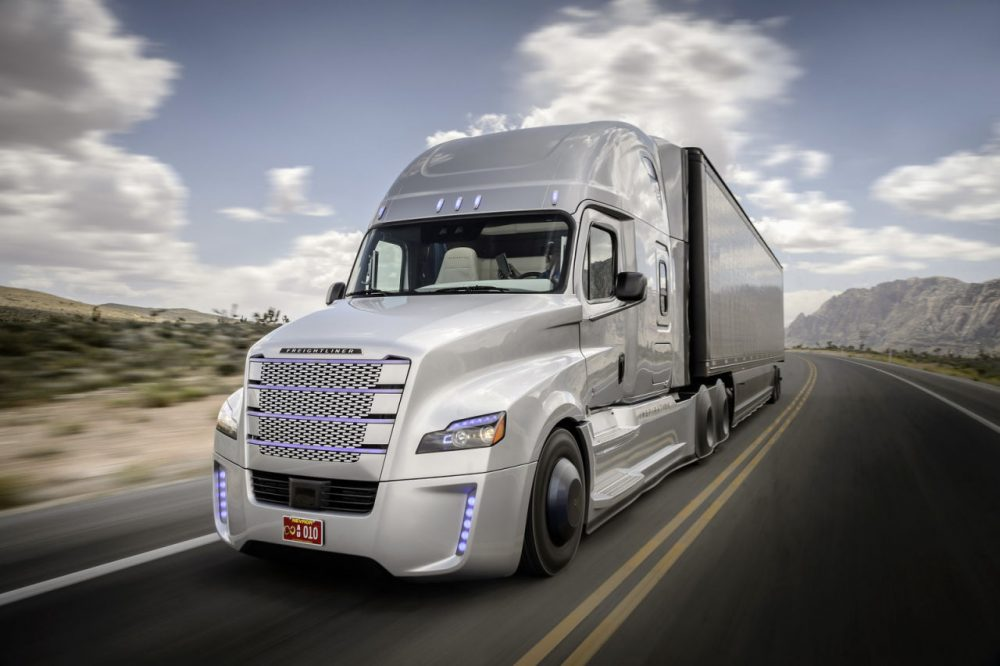 Daimler has introduced the world's first autonomous truck licensed to drive on public roads. (Daimler)