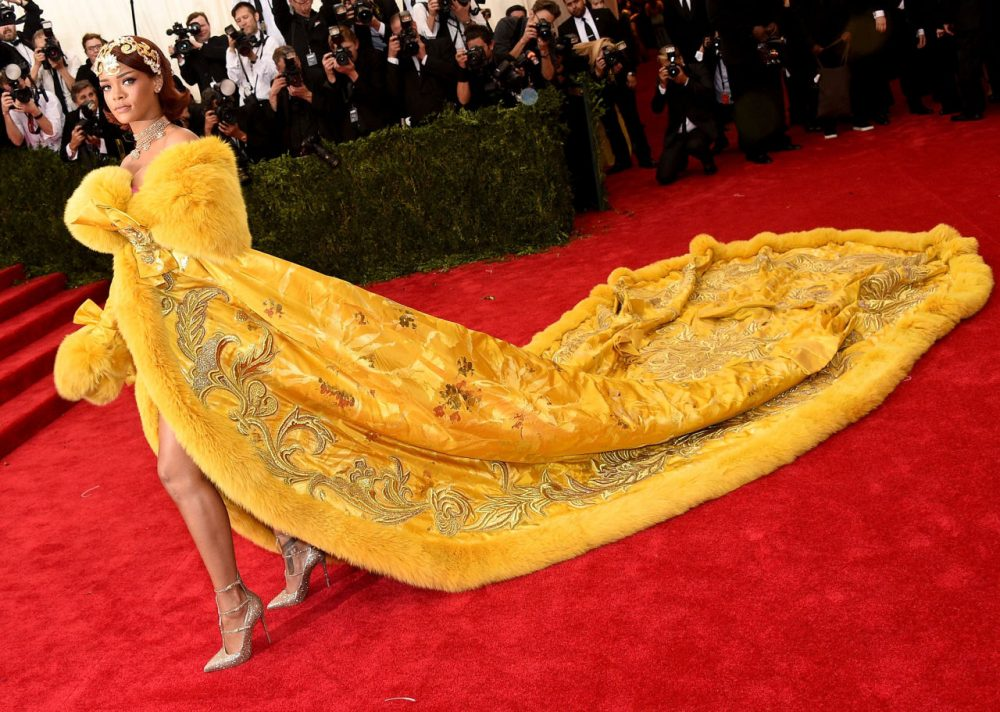 Rihanna attends the 'China: Through The Looking Glass' Costume Institute Benefit Gala at the Metropolitan Museum of Art on May 4, 2015 in New York City. (Larry Busacca/Getty Images)