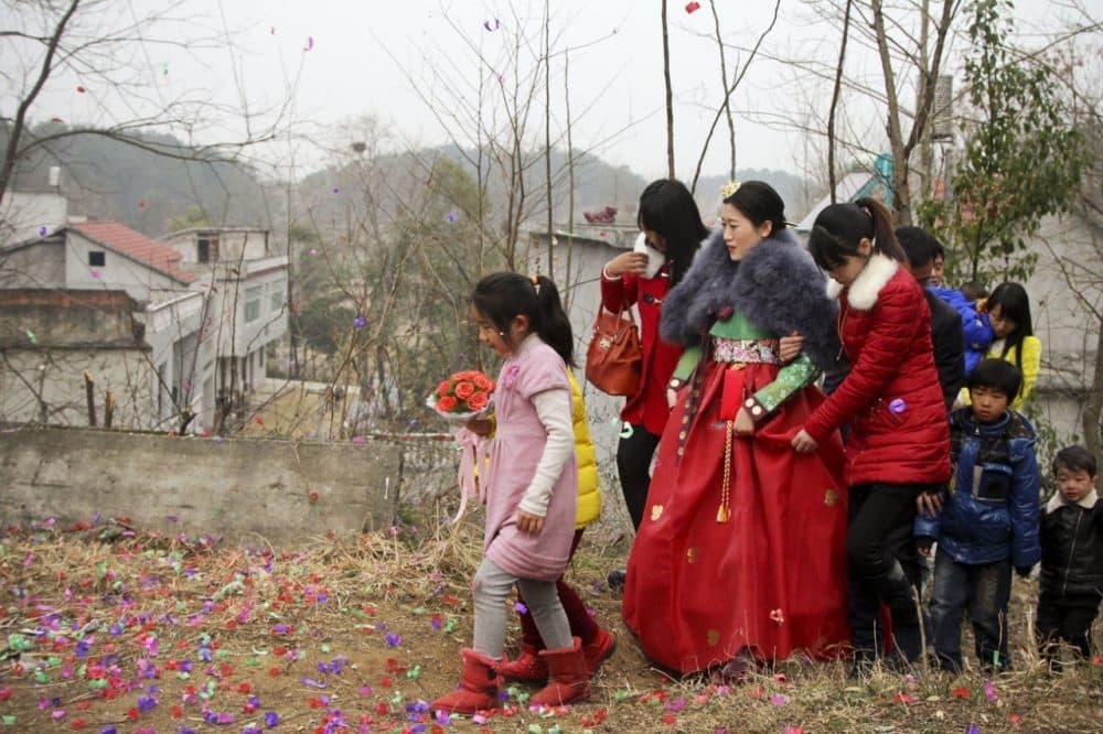 NPR's Frank Langfitt drove a Chinese couple 500 miles to their rural wedding. (Frank Langfitt/NPR)