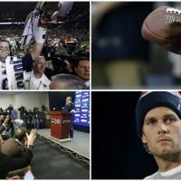 """Deflate-Gate"" is an archetypal Greek Drama, starring Tom Brady as the hero brought low by a power greater than himself. (All photos/AP)"