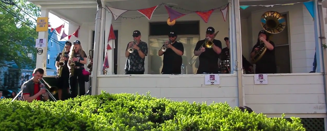 Dirty Water Brass Band at PorchFest 2014. (Kevin Davila/YouTube)