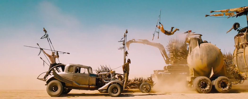 "The jump in ""Mad Max: Fury Road."" (Courtesy Warner Bros.)"