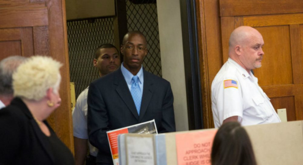 Eileen McNamara: Two decades after a corrupt system railroaded him into a prison cell, Sean Ellis will finally get the opportunity to have a fair trial. In this photo, Ellis enters a Suffolk Superior Court courtroom for his bail hearing Tuesday, May 11, 2015. (Jesse Costa/WBUR)