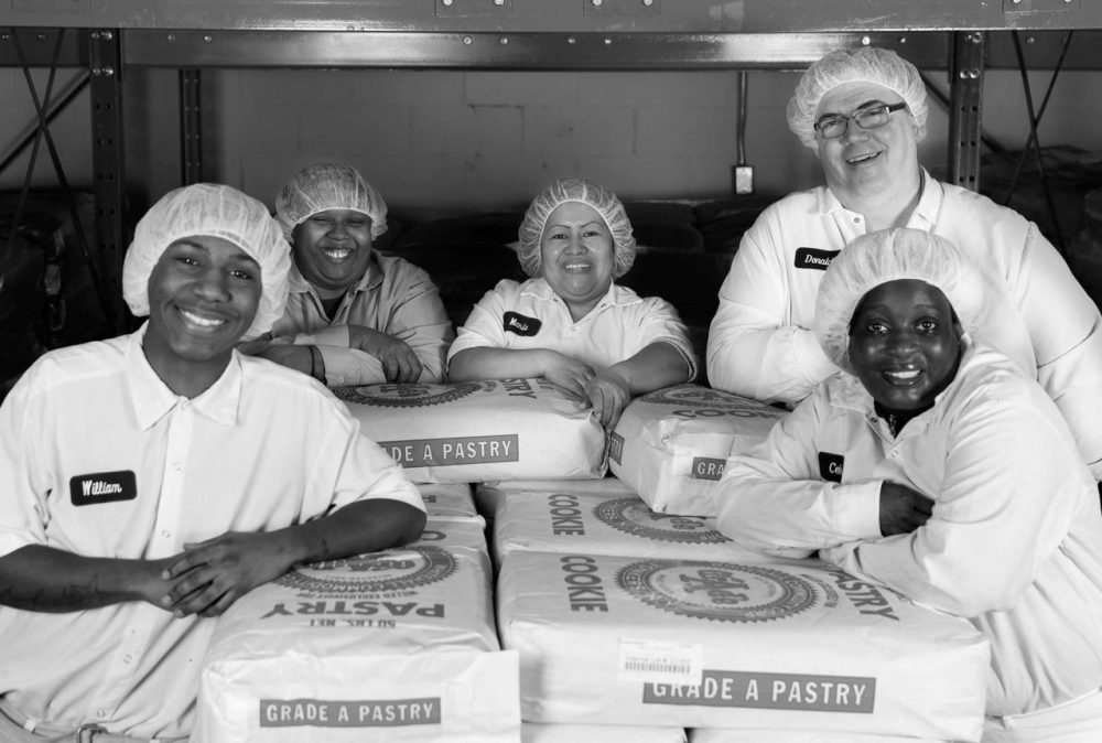 Bakers pose for a photo at Greyston Bakery in Yonkers, N.Y. (Courtesy of Greyston)