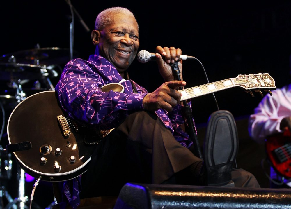 BB King performs on stage during day two of the Bluesfest Music Festival at Tyagarah Tea Tree Farm on April 22, 2011 in Byron Bay, Australia.  (Mark Metcalfe/Getty Images)