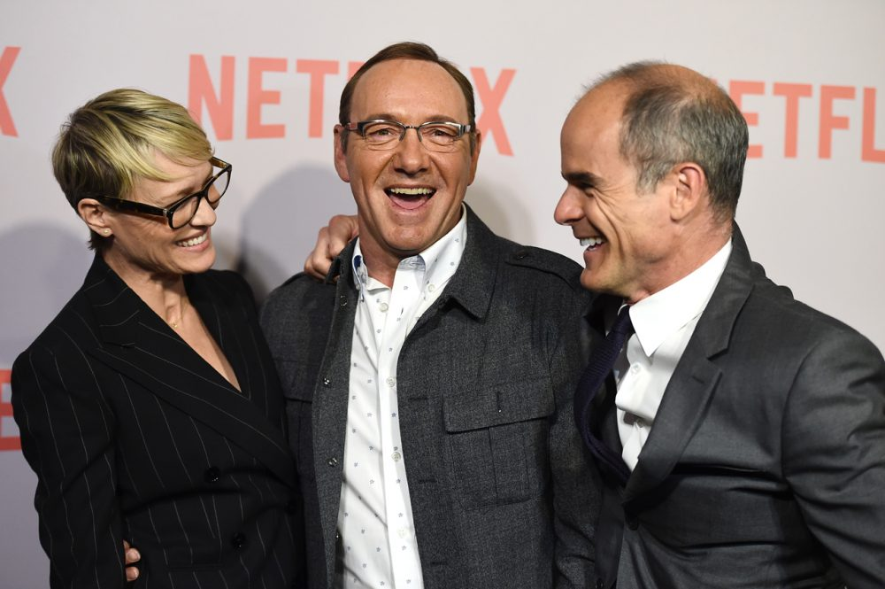 """House of Cards"" stars arrive at a screening at the Samuel Goldwyn Theater on Monday, April 27, 2015. If Netflix expands to China, the countries censorship laws may prohibit screening a show like this one.  (Jordan Strauss/Invision/AP)"
