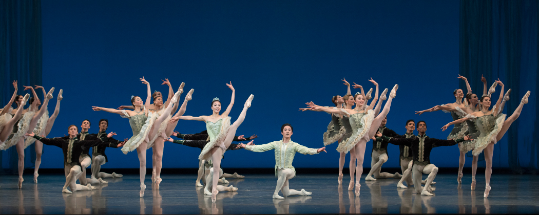 "The Boston Ballet in George Balanchine's ""Theme and Variations."" (Gene Schiavone/The Balanchine Trust)"