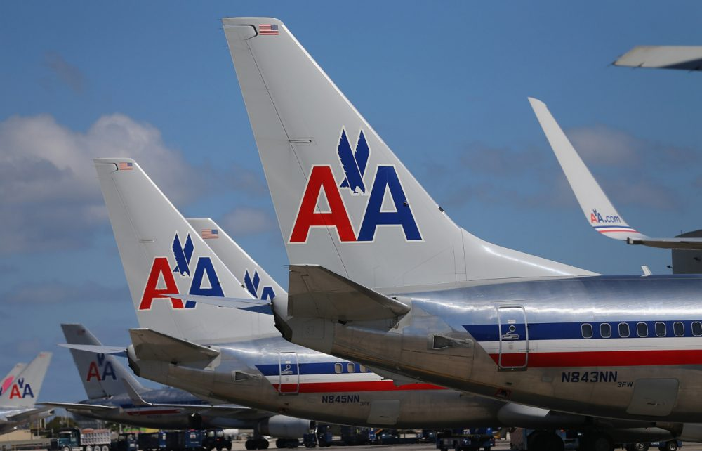 American Airline planes are seen at the Miami International Airport on February 7, 2013 in Miami, Florida. (Joe Raedle/Getty Images)