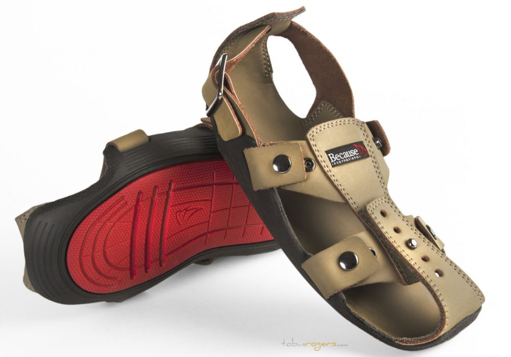 """Kenton Lee came up with the idea for """"The Shoe That Grows"""" when he was living and working in Nairobi, Kenya in 2007. (Courtesy of Because International)"""