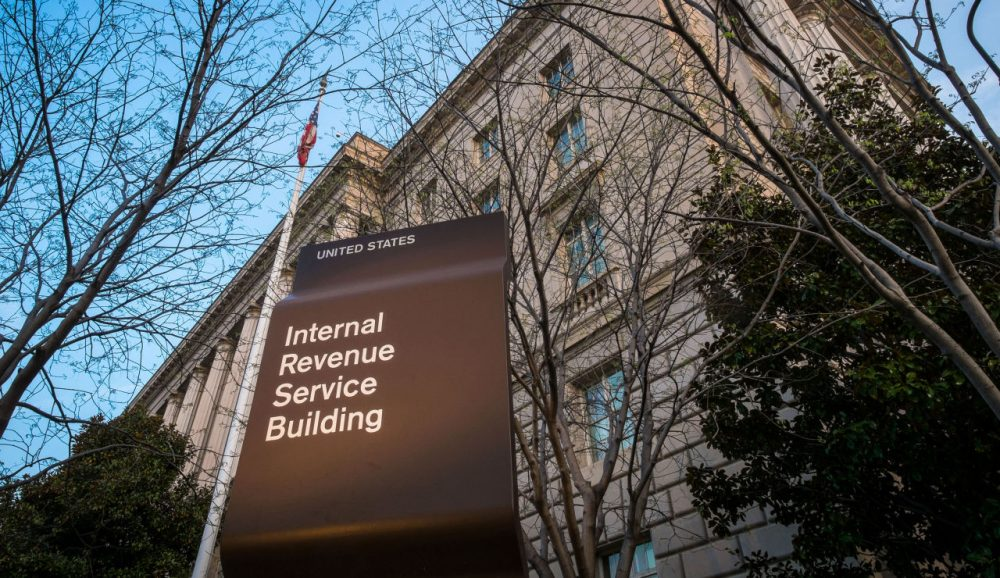 The Internal Revenue Service headquarters in Washington, D.C.. The agency is investigating a data breach affecting over 100,000 people. (J. David Ake/AP)