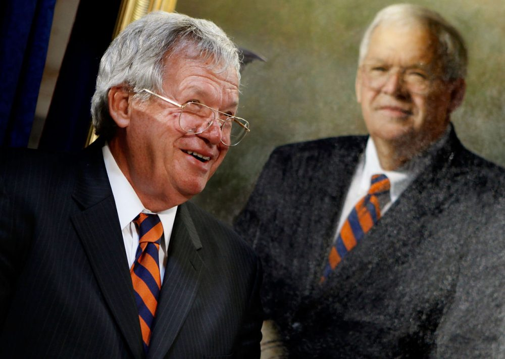 Former House Speaker Dennis Hastert of Illinois attends the unveiling of his portrait at the U.S. Capitol July 28, 2009 in Washington, DC. Hastert was the longest serving Republican speaker, holding the post  from 1999-2007.  (Chip Somodevilla/Getty Images)