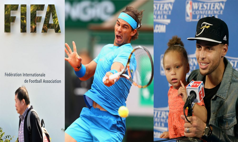 Why are FIFA and other sports federations based in Switzerland? And why does Rafael Nadal have a say in who officiates his French Open matches? And should athletes bring children to press conferences? (Getty Images)