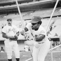 In 12 seasons with six MLB teams, Lenny Randle scored 488 runs, hit 27 home runs -- and recorded one song about Seattle's Kingdome.  (Richard Drew/AP)