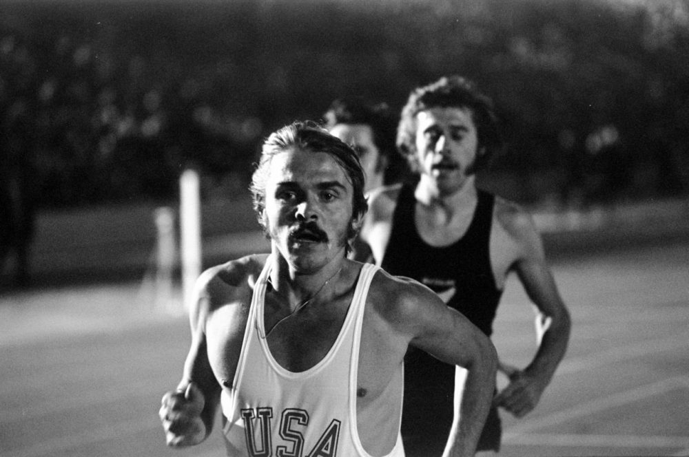 Steve Prefontaine is pictured in action on Sept. 15, 1972, during a track and field event at Crystal Palace in London, England.(Tony Duffy /Allsport)