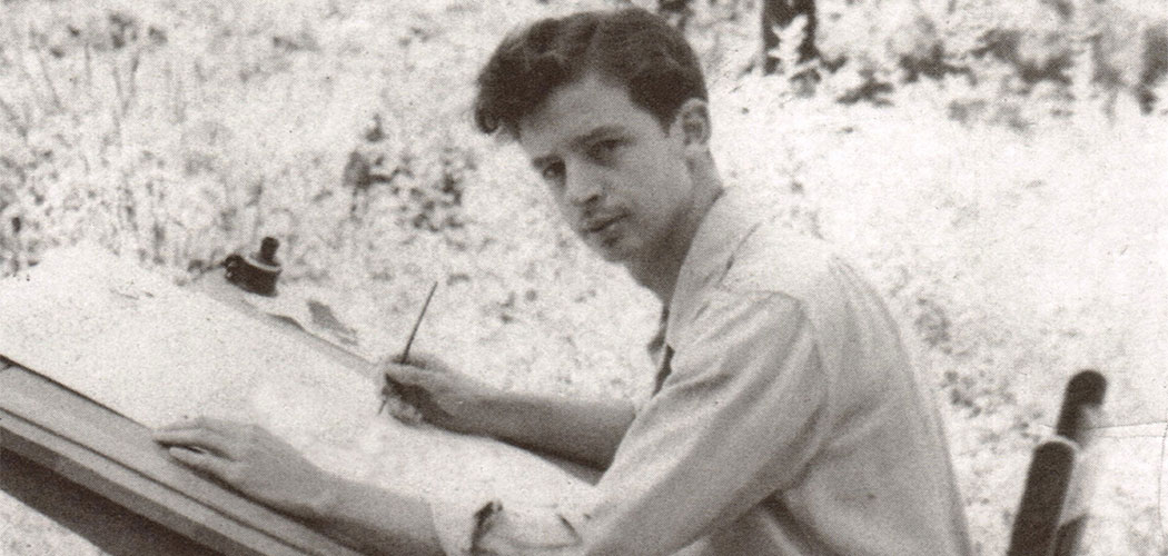 """Cartoonist and """"Archie"""" creator Bob Montana, who went to Haverhill High School, is seen at a drawing table in this undated photo. (Courtesy)"""
