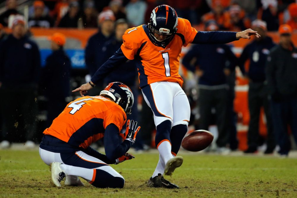 Denver Broncos kicker Connor Barth doesn't think moving the extra point back will make much of a difference. (Doug Pensinger/Getty Images)