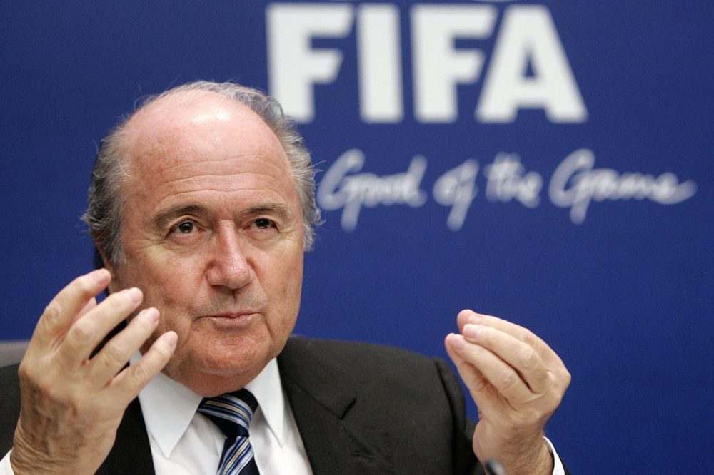 This week, Charlie Pierce weighs in with his thoughts on the FIFA scandal. (Fabrice Coffrini/AFP/Getty)