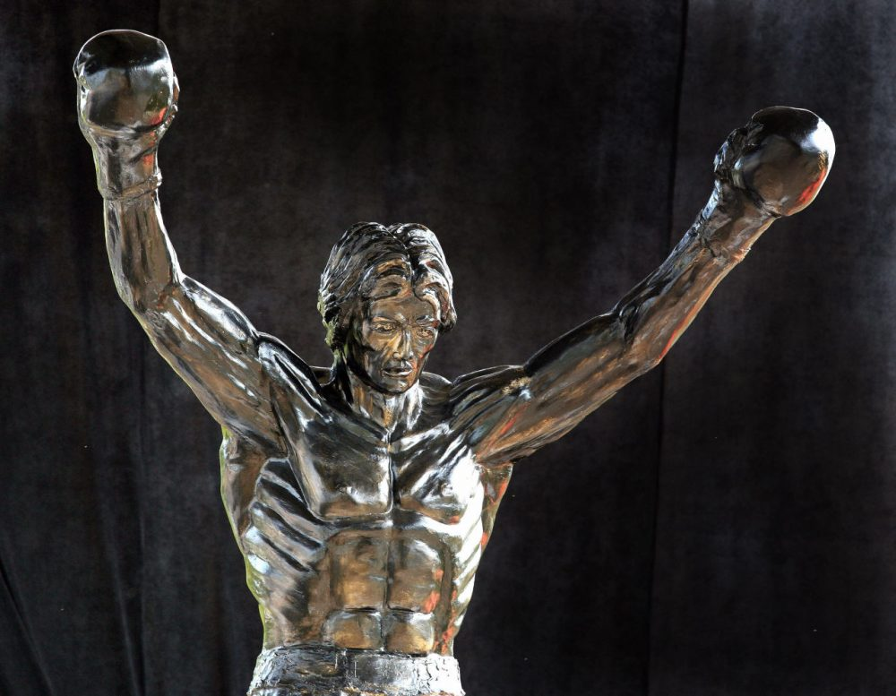 Rocky Balboa, the underdog boxer played by Sylvester Stallone, was the first inductee into the inaugural 2013 Fictitious Hall of Fame. (DIMITAR DILKOFF/AFP/Getty Images)