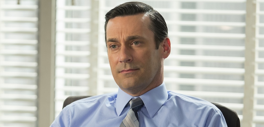 "Jon Hamm as Don Draper on ""Mad Men."" (Justina Mintz/AMC/via AP)"
