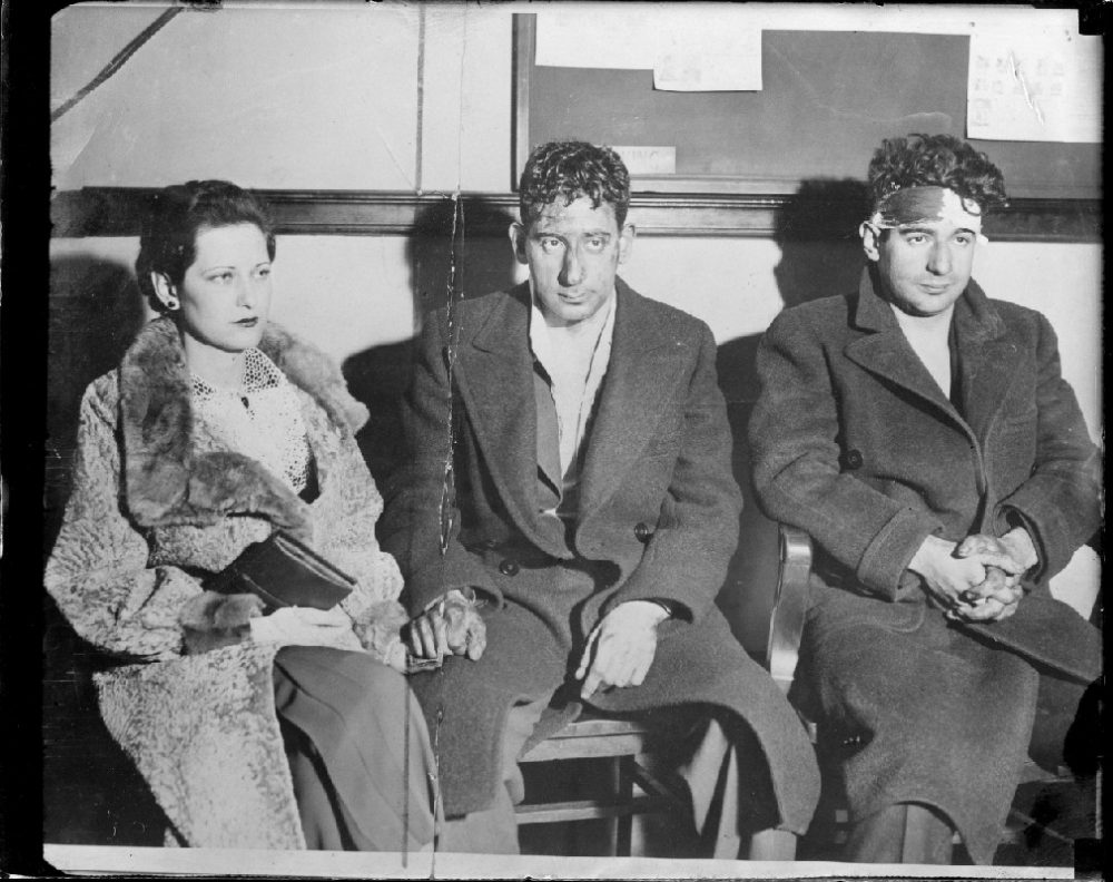 Norma Brighton, Murton Millen and Irving Millen at the New York City Police Station. Boston Public Library/Leslie Jones Collection