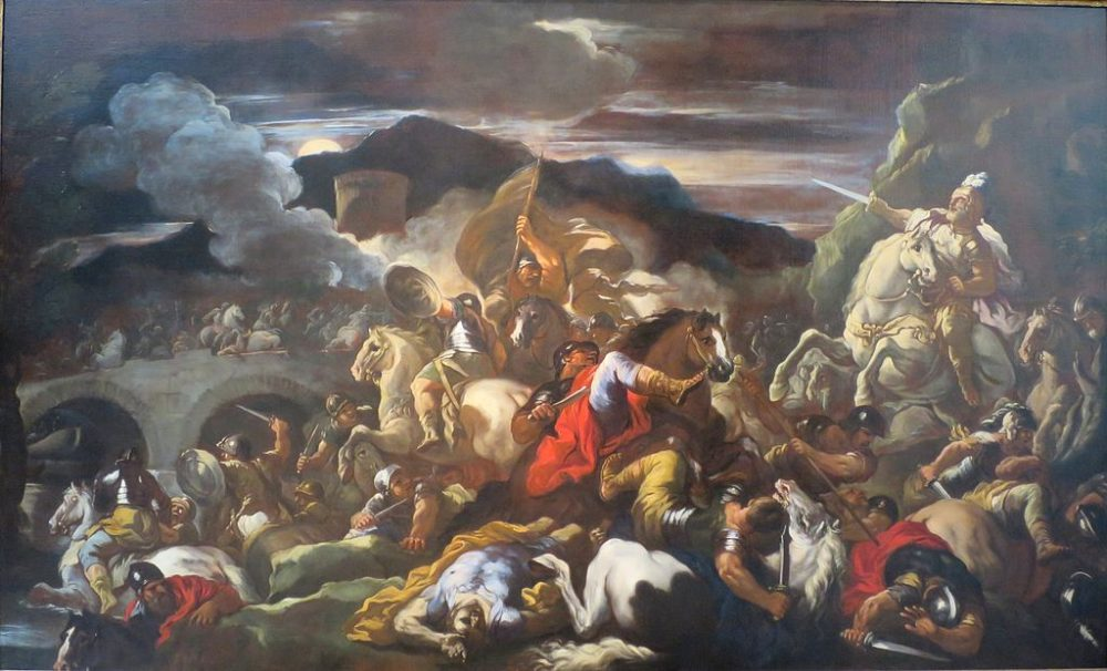 "Not a good analogy for cancer: ""A Battle Scene"" by Luca Giordano, late 17th century, Norton Simon Museum. (Wikimedia Commons)"