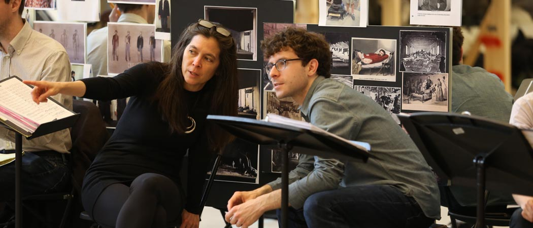 """Matthew Aucoin wrote the music and libretto for """"Crossing,"""" an opera inspired by the diary Walt Whitman kept as a nurse during the Civil War. The work was commissioned by the A.R.T.'s Diane Paulus, who is directing the production. (Courtesy Jeremy Daniel/A.R.T.)"""