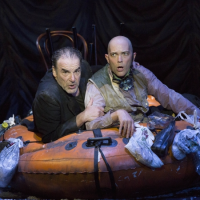 """Mandy Patinkin and Taylor Mac in A.R.T.'s """"The Last Two People On Earth: An Apocalyptic Vaudeville"""" (Gretjen Helene Photography)"""