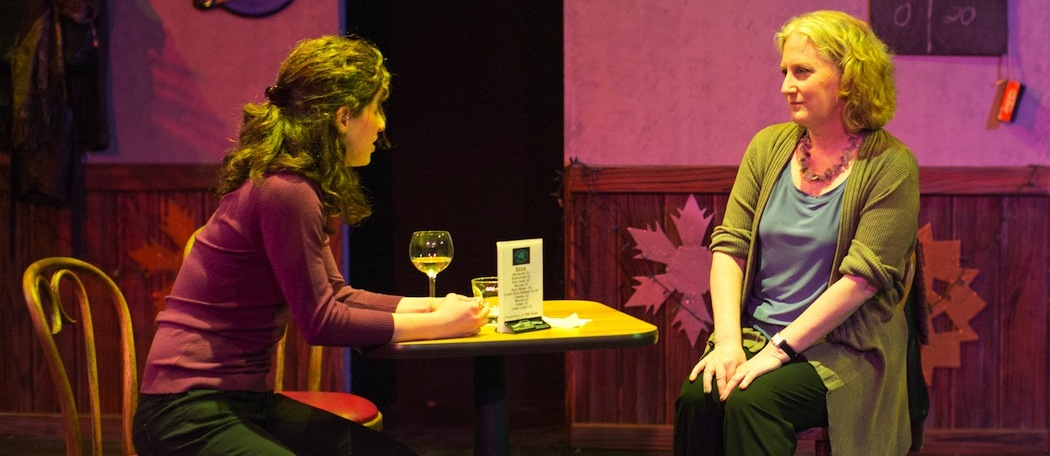 """Tod Randolph and Bridget Saracino in """"The How and the Why,"""" which just opened at Shakespeare and Co in Lenox. (John Dolan)"""