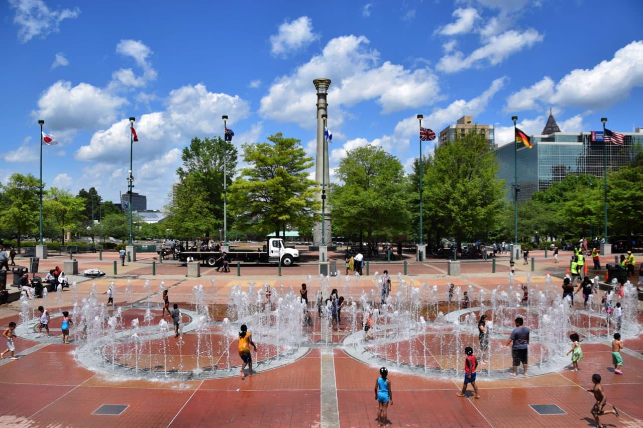 Centennial Olympic Park, in Atlanta (Alison Guillory for WBUR)