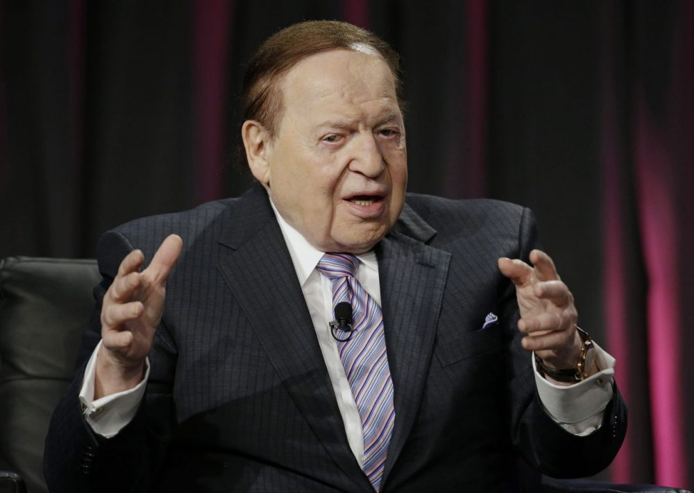 Las Vegas Sands Corp. CEO Sheldon Adelson, seen here in 2014, has donated to the Rubio Victory Fund, a super PAC backing Marco Rubio. (John Locher/AP)