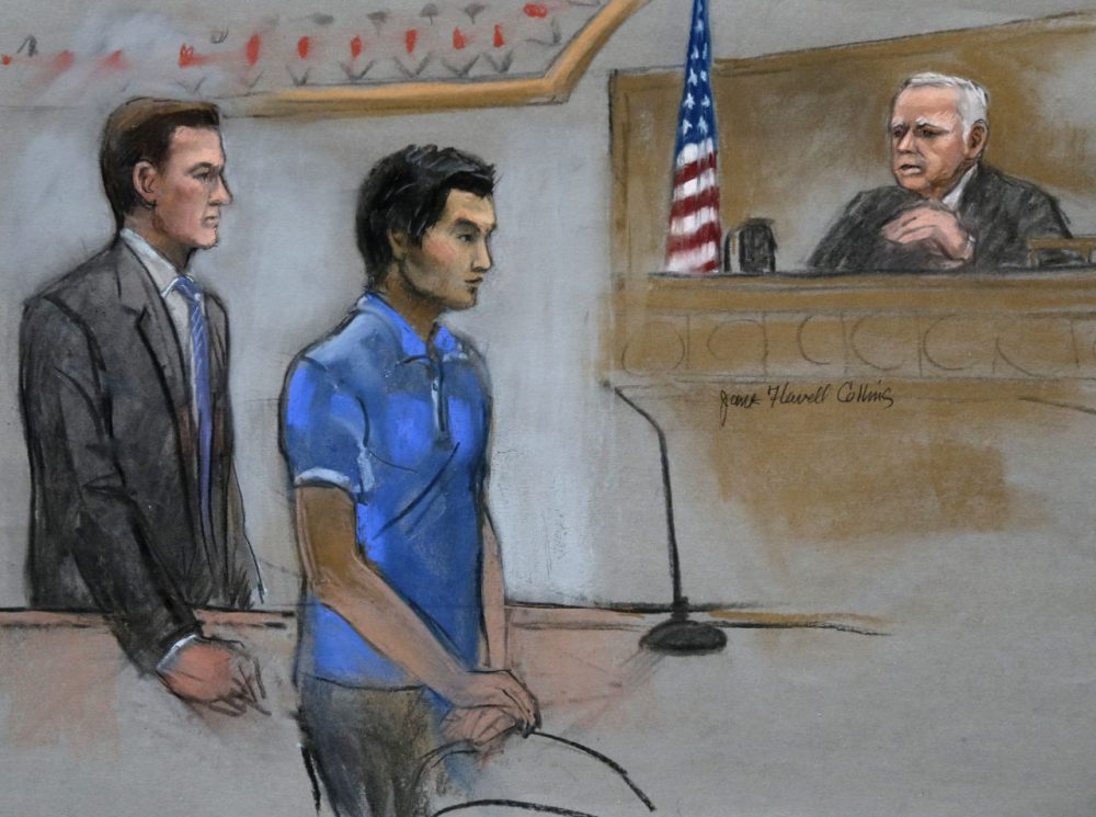 Dias Kadyrbayev pleaded guilty last year  to obstruction of justice and conspiracy charges for removing items from  Dzhokhar Tsarnaev's dorm room. (Jane Flavell Collins/AP)