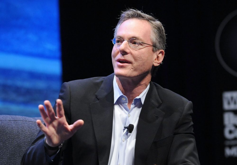 Chairman and CEO of Qualcomm, Paul Jacobs, speaks at the WIRED Business Conference: Think Bigger at Museum of Jewish Heritage on May 7, 2013 in New York City.  (Brad Barket/Getty Images for WIRED)