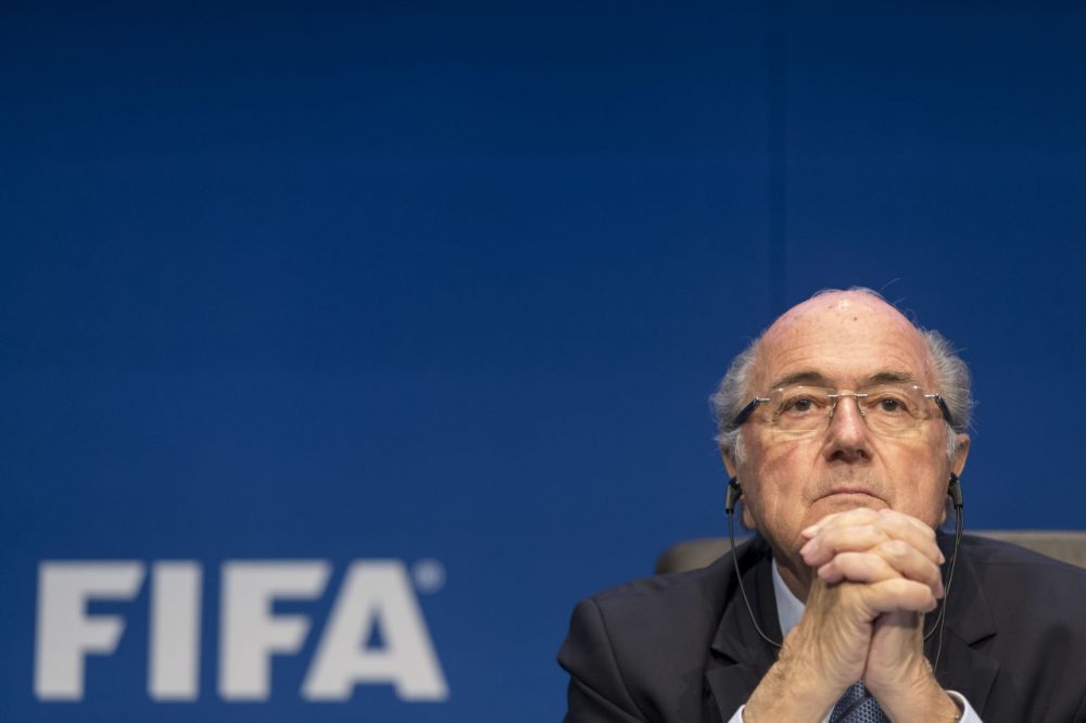 FIFA President Joseph S. Blatter talks to the press during the FIFA Post Congress Week Press Conference at the Home of FIFA on May 30, 2015 in Zurich, Switzerland. (Alessandro Della Bella/Getty Images)