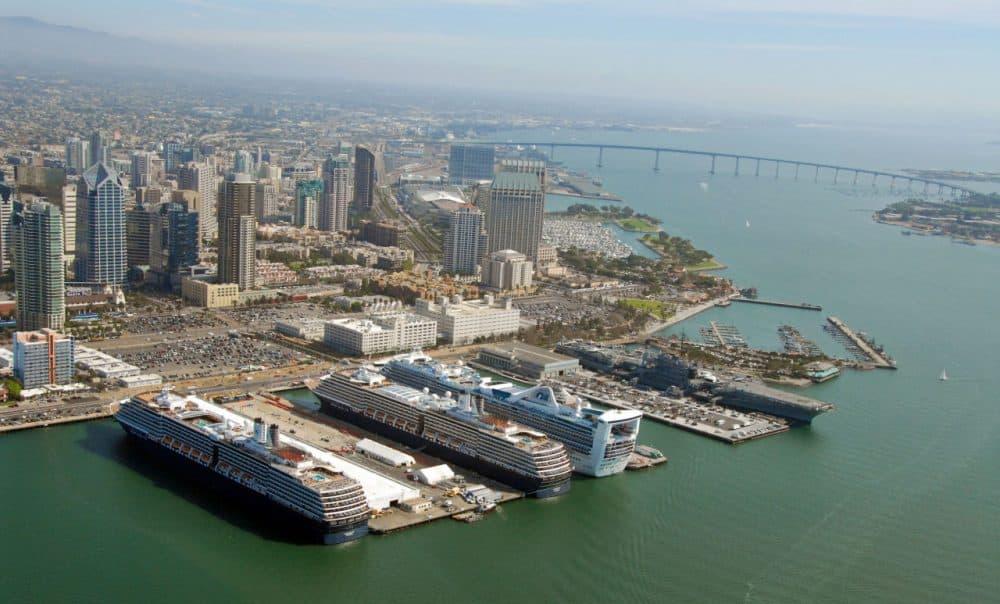 Aerial view of the San Diego skyline. (portofsandiego/Flickr)