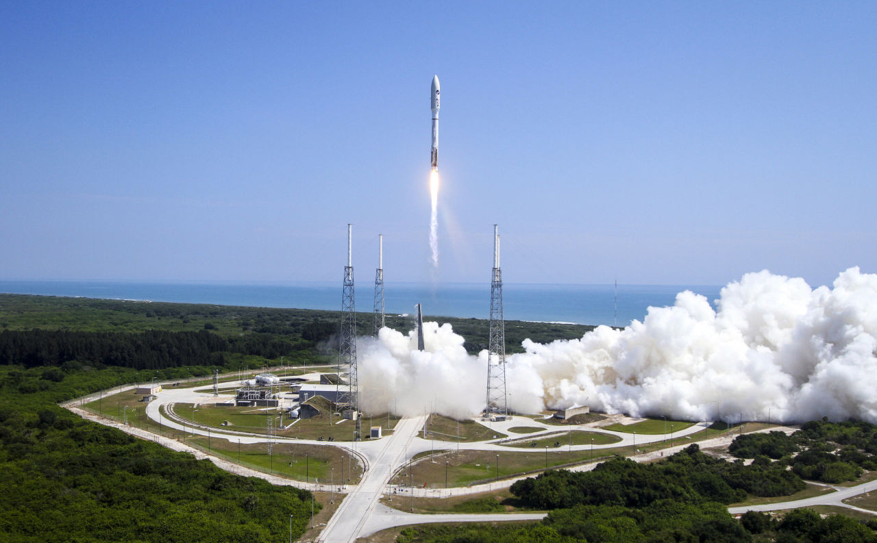 A ULA Atlas V rocket lifts off from Cape Canaveral Air Force Station in Cape Canaveral, Fla. on Wednesday, May 20, 2015. The rocket is carrying the X-37B space plane for the U.S. Air Force as well as 10 CubeSats and the Planetary Society's LightSail Mission. (United Launch Alliance/AP)