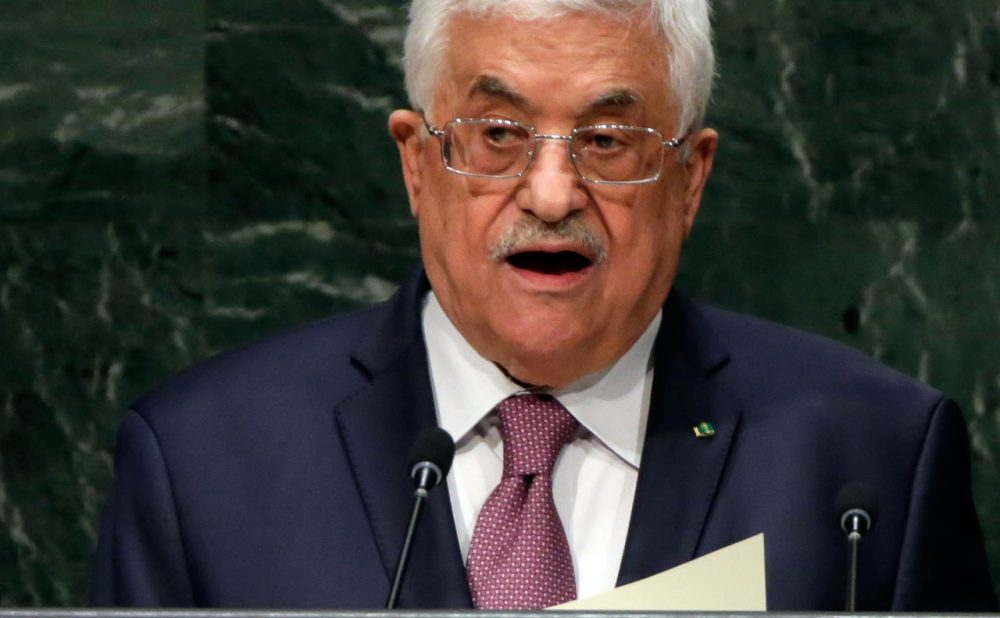 Palestinian President Mahmoud Abbas addresses the 69th session of the United Nations General Assembly, at U.N. headquarters, Friday, Sept. 26, 2014. (Richard Drew/AP)