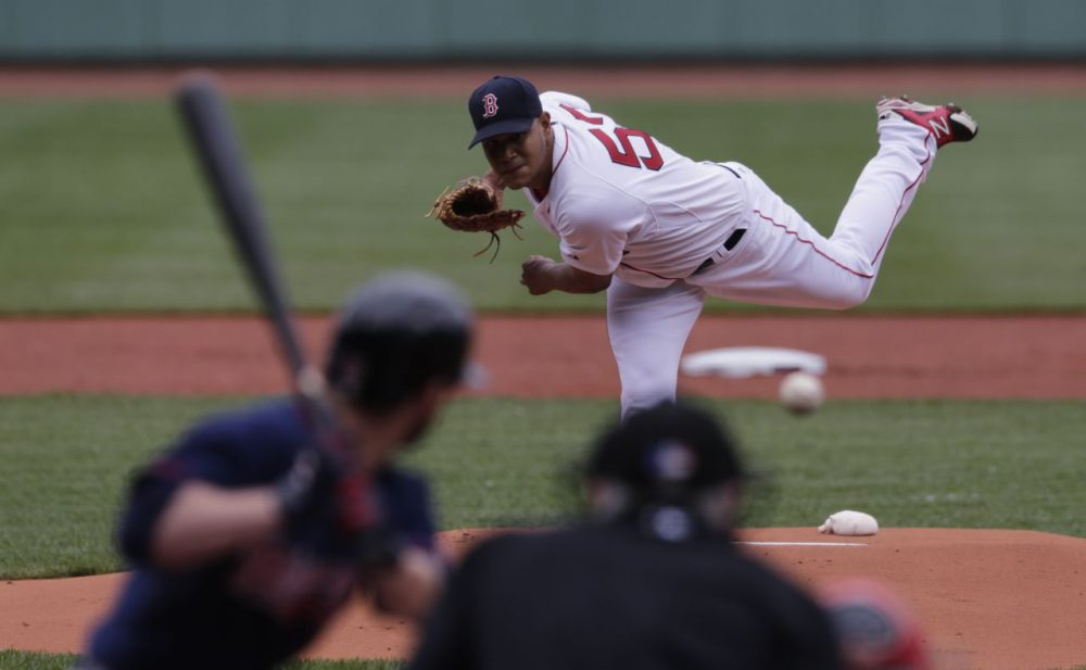 Boston Red Sox starting pitcher Eduardo Rodriguez delivers during the first inning of game 1 in a doubleheader at Fenway, Wednesday, June 3, 2015. (Charles Krupa/AP)